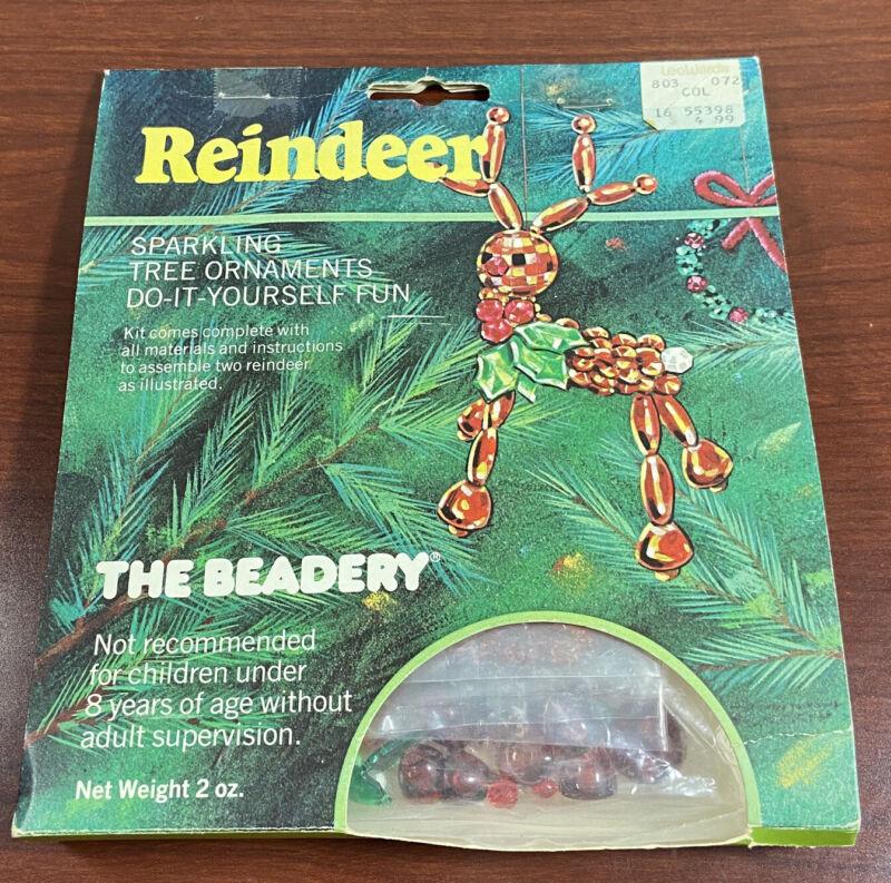 Vintage 1981 The Beadery Ornament Kit Makes 2 Reindeer