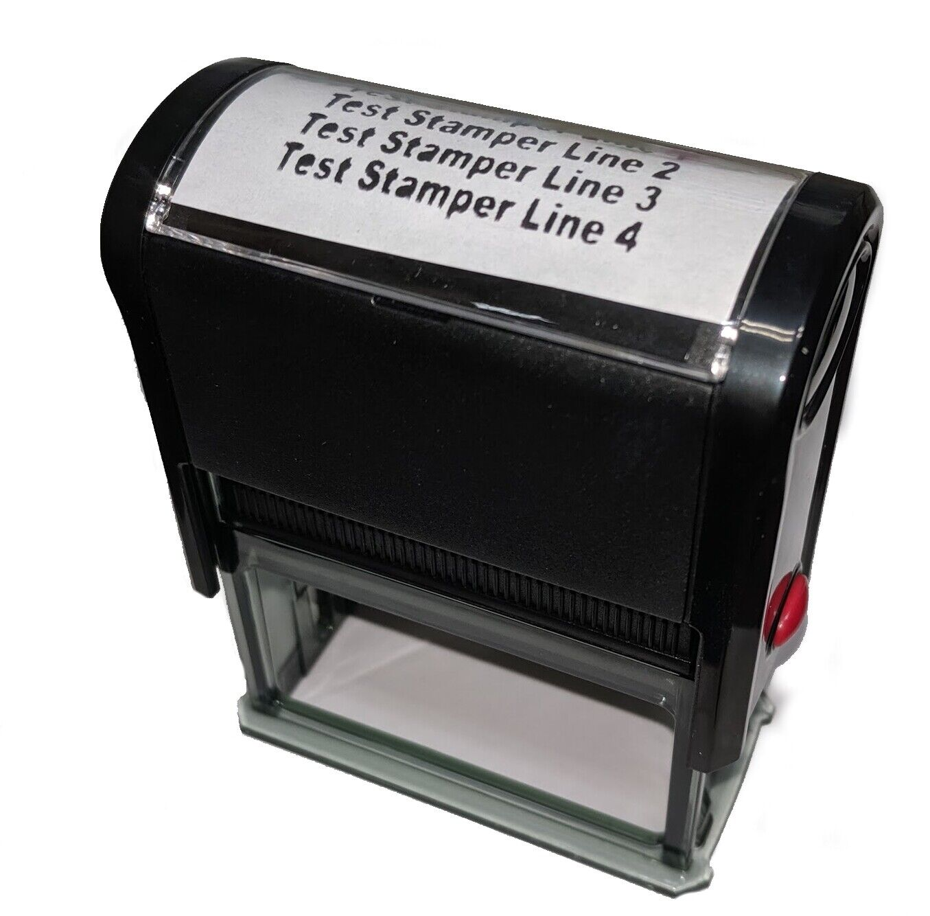 Customized Self Inking Rubber Address Stamp 4 line Personali