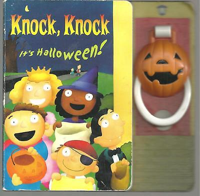 Knock, Knock It's Halloween Schartz/Gott w Cool Pumpkin Door Knocker Look - Halloween Knock Door
