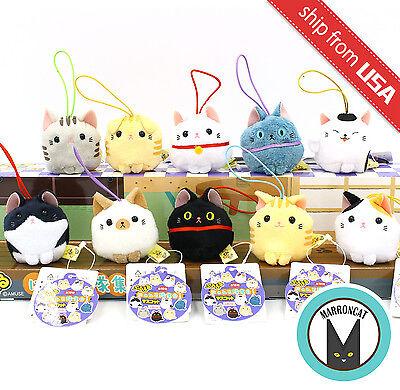 Japan AMUSE Puchimaru Cat Neko Nyanko-tai Mini Mascot Plush Phone Strap Kawaii](Kawaii Plush)