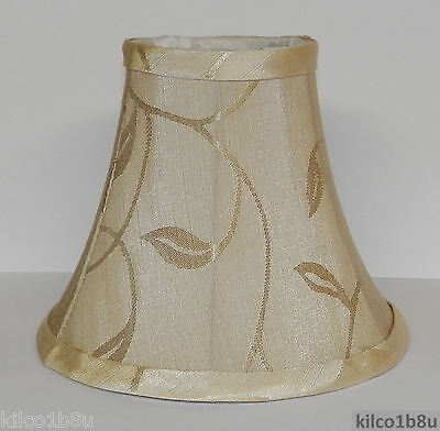 FIVE CREAM LEAF Fabric Chandelier Lamp Shade, ivories, traditional, any room Ivory Leaf Chandelier