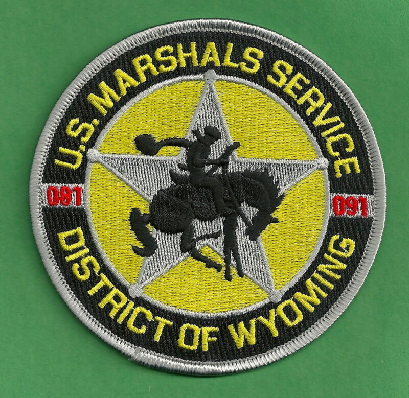 UNITED STATES MARSHAL DISTRICT OF WYOMING SHOULDER PATCH