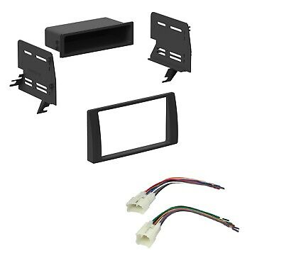 Car Radio Stereo Dash InstalL Kit with Pocket Harness for 2002-2006 Toyota