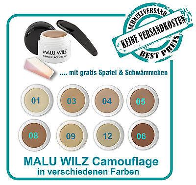 Malu Wilz Camouflage Make up - verschiedene Farben - mit Spatel & Schwämmchen