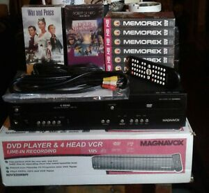 Magnavox dvd / vhs/ cd remote combo player # dv220mw9a like new