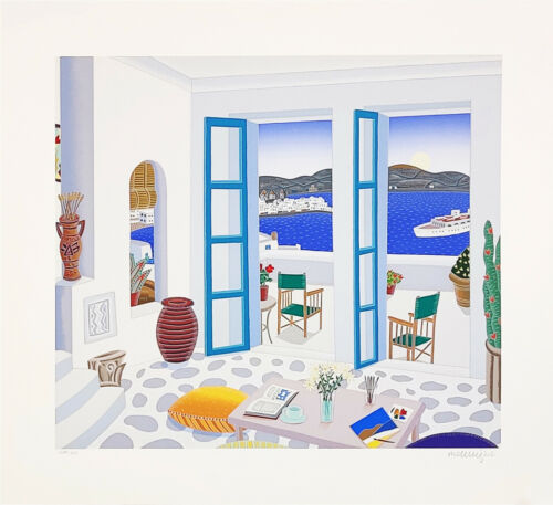 "Thomas Mcknight ""aegean Paradise"" 1993 | Hand Signed Serigraph | Make An Offer"