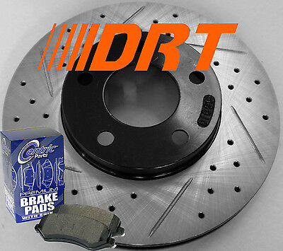 06-10 Dodge Charger R/t Sxt Awd Drilled Slotted Rotors Premium Pads Rear Set