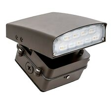 LED Outdoor Adjustable Cutoff Wall Pack Security Flood Light - Bronze