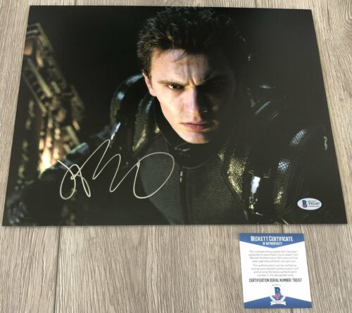 JAMES FRANCO SIGNED AUTOGRAPH SPIDER-MAN 11x14 PHOTO w/PROOF & BECKETT BAS COA