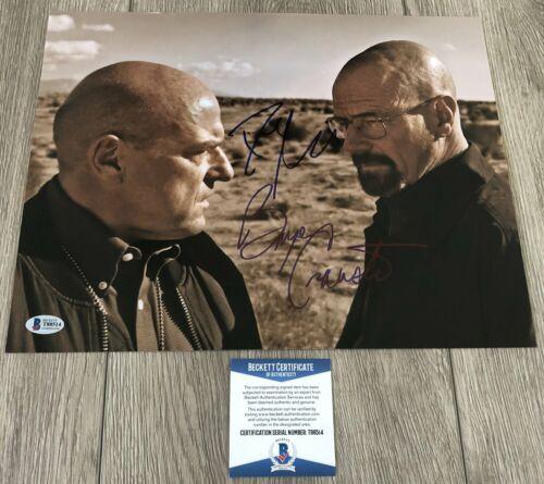 BRYAN CRANSTON & DEAN NORRIS SIGNED BREAKING BAD 11x14 PHOTO w/ BECKETT BAS COA