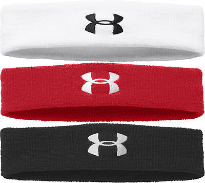 Under Armour Men's Headband, Black, White, Blue or Red, 1276990 NEW!