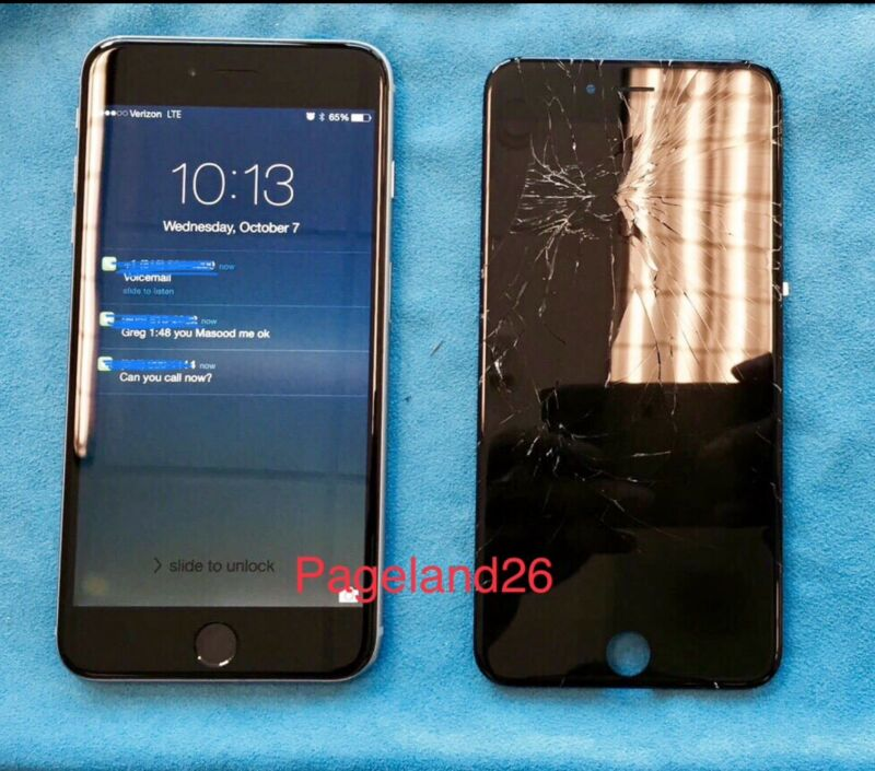 Apple Iphone 8 Plus Cracked Or Broken Glass Repair Service Same Day Turn Around