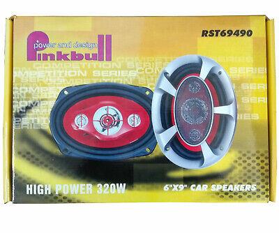 "Car Speaker Pinkbull RST69490 LD Einbaulautsprecher oval, 6""x9"", 320 Watt, Neu"