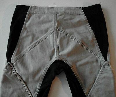 gareth pugh GREY BLACK geometric patch jeans it42 usa 6-8 NEW CLEARANCE