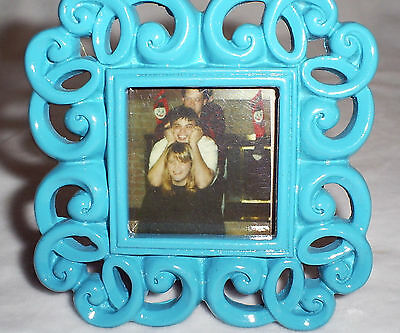 3 Tall X 3 Wide Ocean Blue Mini Photo Frame-photo Size Is 1.6 X 1.6