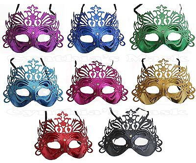 Wholesale 12pcs Venetian Metallic Plastic Masquerade Mask Assorted Color Cosplay - Masquerade Masks Wholesale