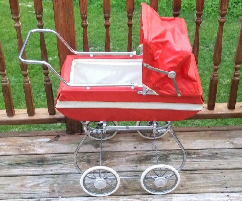 Vintage Baby Carriage Stroller Antique Pram Perego Rex Pedigree Royal England ?