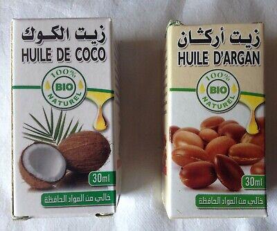Aceite Argan Puro 100% BIO NATURAL + ACEITE DE COCO, PACK 2...