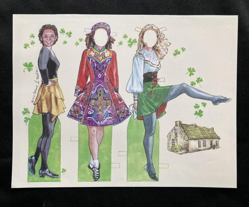 Irish Dancer Paper Doll 2003 by Norma Lu Meehan, Uncut