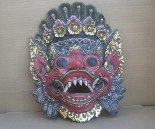 Mask  Singa Lion Hand Carved Wood Wall Art Sculpture Indnesaia