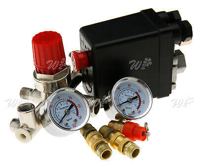 Single Phase Compressor Pressure Switch With Air Regulator Gauge Valve