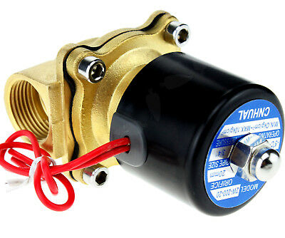Ac220v 34 Brass Electric Solenoid Valve For Water Gas Oil 2 Position 2 Way