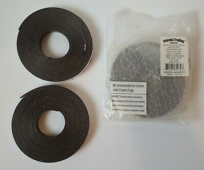 Lot Of 3 Magnetic Adhesive Tape Oriental Trading 12 Inch X 12 Feet 571500