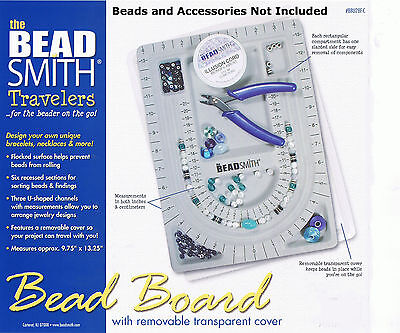 Beading Board - Bead Design Beading Board Gray Flock With Lid BeadSmith 9x13  Inches