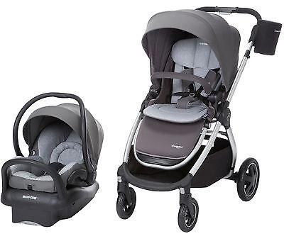 Maxi-Cosi Adorra Travel System Stroller w/ Mico Max Infant Car Seat & Base Grey
