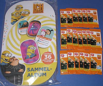 Sammelalbum Minions Rewe / Ich unverbesserlich 3 NEU + OVP + 20 Sammelkarten OVP