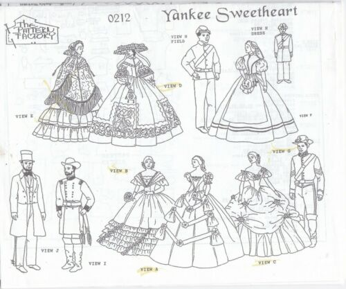 YANKEE SWEETHEART Doll Pattern For Barbie and Ken