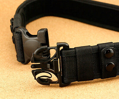 Durable Heavy Duty Security Guard  Utility Nylon Belt Waistband Black