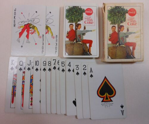"""Vintage Coca Cola 1963 """"Things go Better"""" Deck of Playing Cards"""