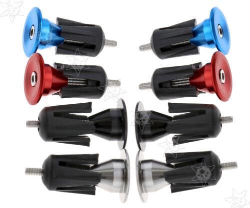 2x Fahrrad Rennrad Fahrradgriffe Lenkerstopfen Endstopfen Aluminium Endkappen