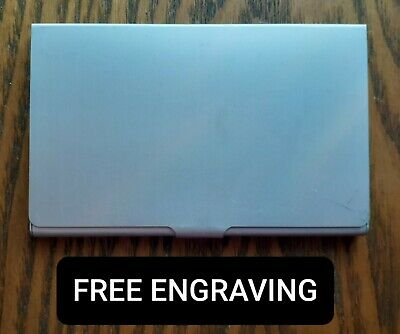 Free Engraving Personalized Silver Business Card Case Holder Metal Aluminum