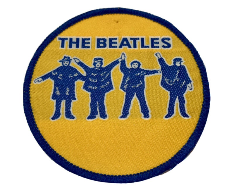 Vintage 1980s The Beatles 4 Inch Sew-On Patch, Used