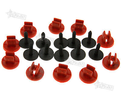 10x Engine Undertray Cover Clips Bottom Shield Guard Screws For Ford Focus