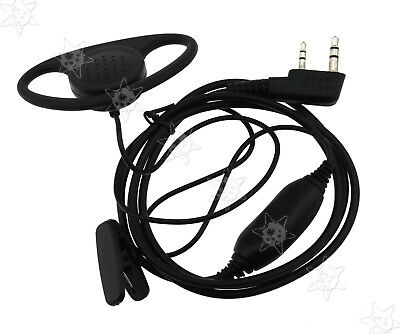 New 2 Pin Security Headsetearpiece Earphone Mic For Kenwood Walkie
