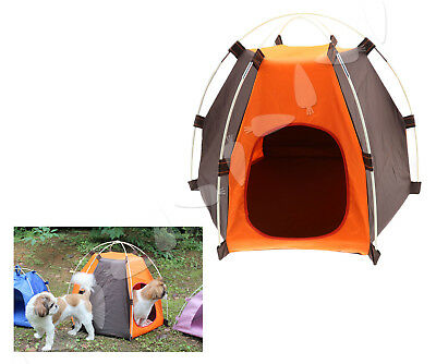 Waterproof Folding Pet Tent Cats Dogs Bed House Play Fun Indoor Outdoor Portable