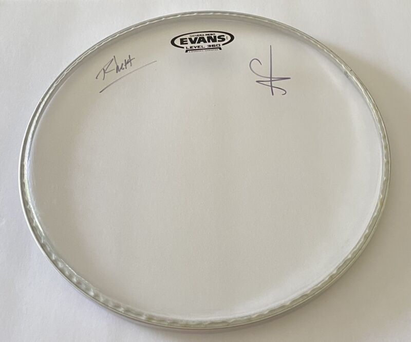 NF and Rhett Signed CONCERT USED Drumhead - EXTREMELY RARE AUTOGRAPH! Real Music