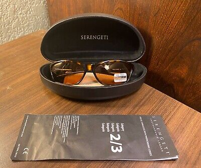 New Serengeti Rieti Tortoise 6878 Sunglasses Photochromic Lenses With Hard (Serengeti Ladies Sunglasses)