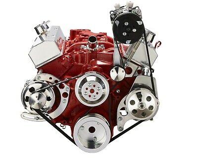 Small Block Chevy Serpentine Conversion Kit A/C PS ALT SBC 283 327 350 400