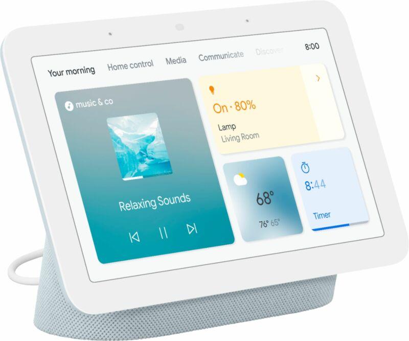 Nest Hub 7Smart Display with Google Assistant (2ndGen) - Mist