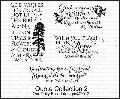 Our Daily Bread Designs Cling Stamp Set Inspirational Quote Collection 2 E336