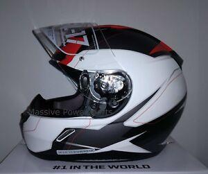 HJC CL-17 Omni Motorcycle Helmet Red White Gray XXXXXL 5XL 5X