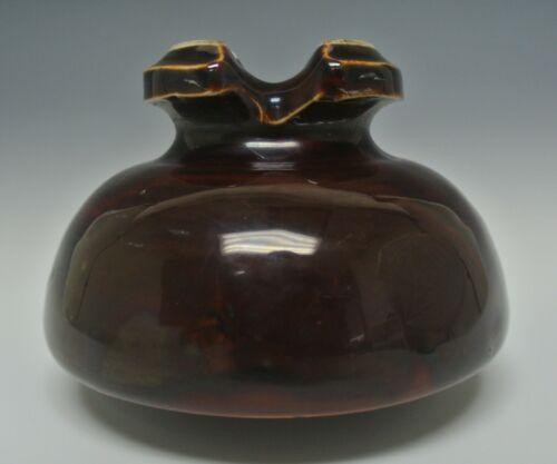 Vintage Large Ceramic Insulator Brown Power Pole,Telphone