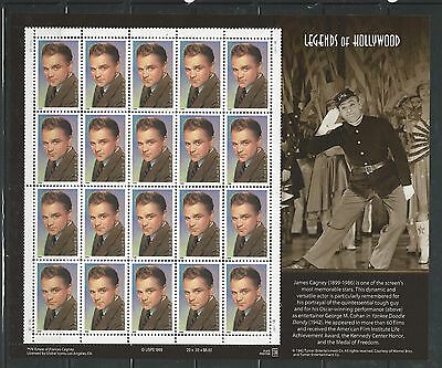1999 3329 JAMES CAGNEY LEGEND OF HOLLYWOOD MINT SHEET