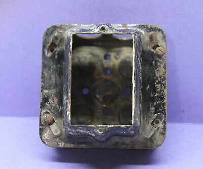 Vintage Metal Industrial 1-gang Electrical Switch Outlet Box Junction Steel