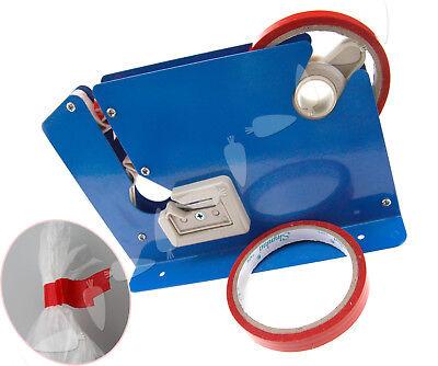 Metal Plastic Bag Neck Sealer With Trimming Blade FOC 2 Rolls Of Vinyl Tape Seal Bag Neck Sealing Tape