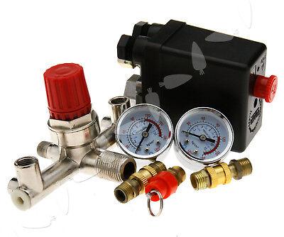 Compressor Pressure Switch Single Phase With Air Regulator Gauge Valve